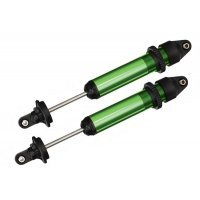 Traxxas X-Maxx Green Aluminium GTX Shocks Assembled w/o Springs 2Pc