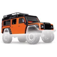 Traxxas TRX-4 Land Rover Defender Painted Orange Body Shell w/ Decal Sheet