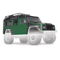 Traxxas TRX-4 Land Rover Defender Painted Green Body Shell w/ Decal Sheet
