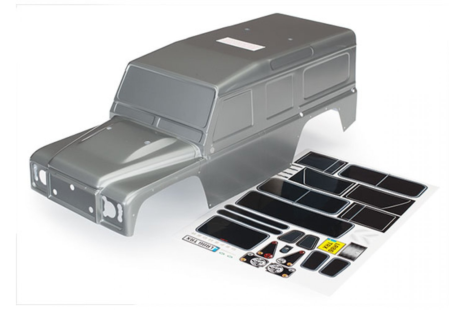8011X | Traxxas TRX-4 Land Rover Defender Painted Grey Body Shell w/ Decal  Sheet