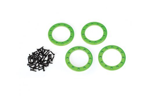 "Traxxas Green Aluminium 1.9"" Beadlock Rings 4pc"