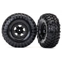 "Traxxas 2.2"" Canyon Trail Tyres on Black Rims - Glued Wheels 2Pcs"