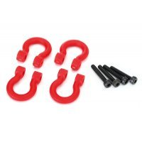 Traxxas TRX-4 Red Front or Rear Bumper D-Rings 2Pcs