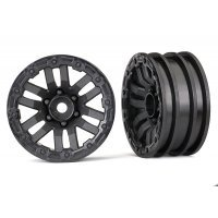 "Traxxas TRX-4 1.9"" Black Rims 2Pcs"