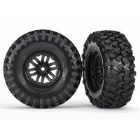 "Traxxas 1.9"" Canyon Trail Tyres on Black Rims - Glued Wheels 2Pcs"