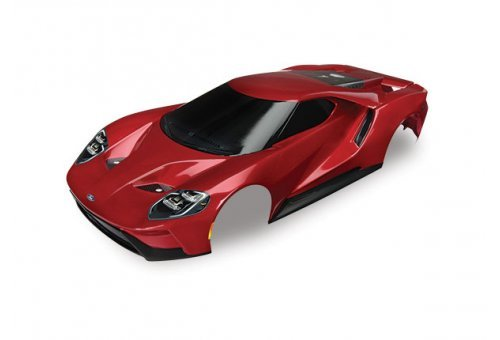 Traxxas 1/10 Red Ford GT Painted Body Shell