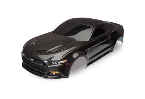 Traxxas 1/10 Black Ford Mustang Painted Body Shell