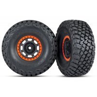 "Traxxas 2.2/3.2"" BFGoodrich Baja KR3 Tyres on Black/Orange Rims - Glued Wheels 2Pcs"
