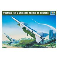 Trumpeter 1/35 SA-2 Guideline Missile On Launcher Scaled Plastic Model Kit