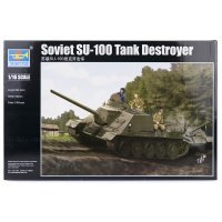 Trumpeter 1/16 Soviet SU-100 Tank Destroyer Scaled Plastic Model Kit