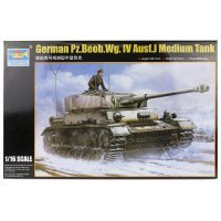 Trumpeter 1/16 German Pz.Beob.Wg.IV Ausf.J Tank Scaled Plastic Model Kit