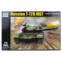 Trumpeter 1/16 Russian T-72B Main Battle Tank Scaled Plastic Model Kit