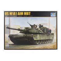 Trumpeter 1/16 U.S. Abrams M1A1 Aim Main Battle Tank Scaled Plastic Model Kit