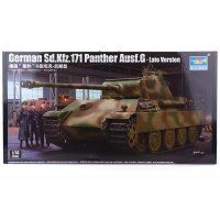 Trumpeter 1/16 German Sd.Kfz.171 Panther Ausf.G-Late Version Tank Scaled Plastic Model Kit