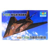 Trumpeter 1/144 F-117A Nighthawk Jet Scaled Plastic Model Kit