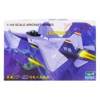 Trumpeter 1/144 YF-22 Lightning II Fighter Jet Scaled Plastic Model Kit
