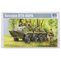 Trumpeter 1/35 Russian BTR-60PA Armoured Personnel Carrier Vehicle Scaled Plastic Model Kit