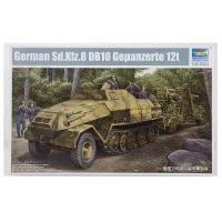 Trumpeter 1/35 German Sd.Kfz.8 DB10 Armoured 12 Ton Artillery Half-track Scaled Plastic Model Kit