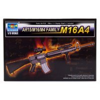 Trumpeter 1/3 M16A4, AR15, M16, M4 Scaled Plastic Model Kit