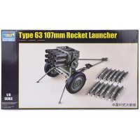 Trumpeter 1/6 Type 63 107mm Rocket Launcher Scaled Plastic Model Kit