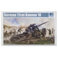 Trumpeter 1/35 German 17cm Kanone 18 Heavy Howitzer Scaled Plastic Model Kit