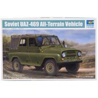 Trumpeter 1/35 Soviet UAZ-469 All-Terrain Military Staff Car Scaled Plastic Model Kit