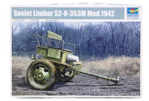02345 | Trumpeter 1/35 Soviet 1942 Limber 52-R-353M Scaled Plastic Model Kit