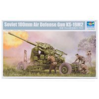 Trumpeter 1/35 Soviet KS-19M2 100mm Air Defense Gun (Late Version) Scaled Plastic Model Kit