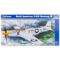 Trumpeter 1/24 North American P-51D Mustang IV Fighter Scaled Plastic Model Kit