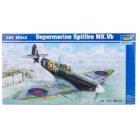 Trumpeter 1/24 Supermarine Spitfire Mk. VB Fighter Scaled Plastic Model Kit