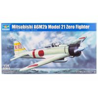 Trumpeter 1/24 Mitsubishi A6M2b Model 21 Zero Fighter Scaled Plastic Model Kit