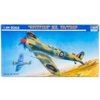 Trumpeter 1/24 Supermarine Spitfire Mk. VB/TROP Fighter Scaled Plastic Model Kit