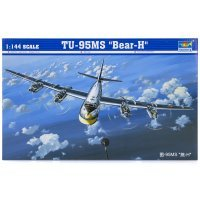 Trumpeter 1/144 TU-95MS Bear-H Bomber Scaled Plastic Model Kit