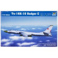 Trumpeter 1/144 Tu-16K-10 Badger G Bomber Jet Scaled Plastic Model Kit