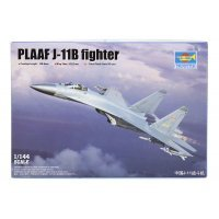 Trumpeter 1/144 PLAAF J-11B Fighter Jet Scaled Plastic Model Kit