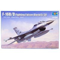 Trumpeter 1/144 F-16B/D Falcon Block 15/30 Fighter Jet Scaled Plastic Model Kit