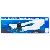 Trumpeter 1/144 USS Seawolf SSN-21 Attack Submarine Plastic Model Kit