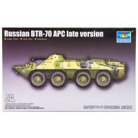 Trumpeter 1/72 Russian BTR-70 APC (Late Version) Armoured Personnel Carrie Scaled Plastic Model Kit