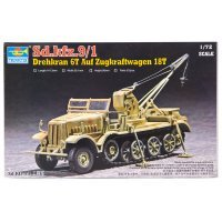 Trumpeter 1/72 German Sd.Kfz.9/1 6 Ton Crane Half-track Scaled Plastic Model Kit