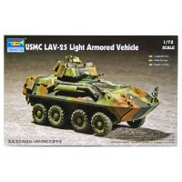 Trumpeter 1/72 U.S.M.C LAV-25 Light Armoured Vehicle Scaled Plastic Model Kit