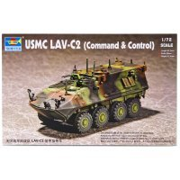 Trumpeter 1/72 U.S.M.C LAV-C2 (Command & Control) Armoured Vehicle Scaled Plastic Model Kit