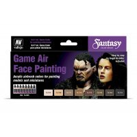 Vallejo Game Air Special Set Face Painting (by Angel Giraldez) Colour Set 8Pcs
