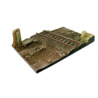 Vallejo 1/35 Scenics 310x210mm Country Road Cross w/ Railway Section Diorama Base