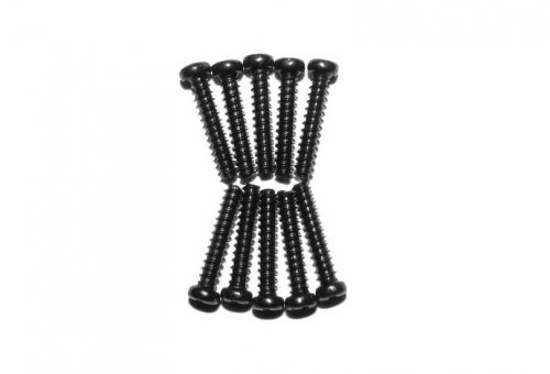 Xinlehong 2.3x12mm Coarse Thread Binder Head Screws 10Pcs