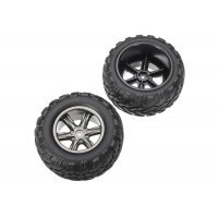 "Xinlehong 2.2"" Challenger Off-Road Tyres on Grey Rims - Wheels 2Pcs"