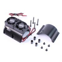 Yeah Racing Black Aluminium 40.8mm Heat Sink w/ Twin Tornado High Speed Cooling Fans