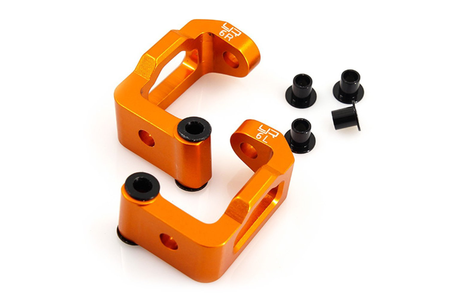 SPT2-005OR | Yeah Racing HPI Sprint 2 Orange Aluminium Front Hub Carrier 2Pc