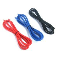 Yeah Racing 14AWG Red, Black and Blue Silicone Wire 600mm w/ Shrink Wrap