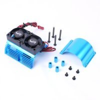 Yeah Racing Blue Aluminium 40.8mm Heat Sink w/ Twin Tornado High Speed Cooling Fans