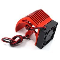 Yeah Racing Red Aluminium 540 Size Motor Heat Sink w/ Cooling Fan